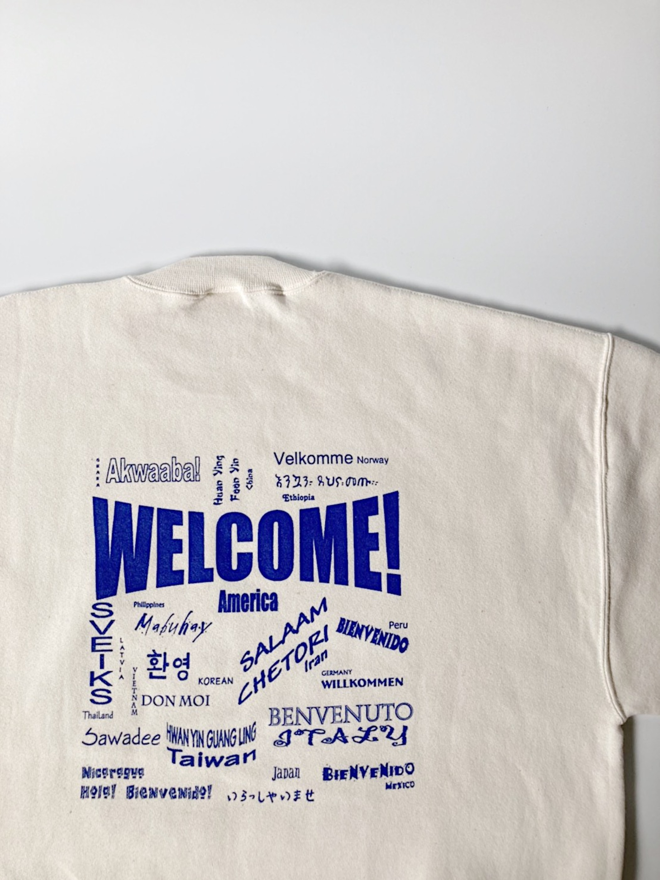 welcome sweat shirt[Re:stock]
