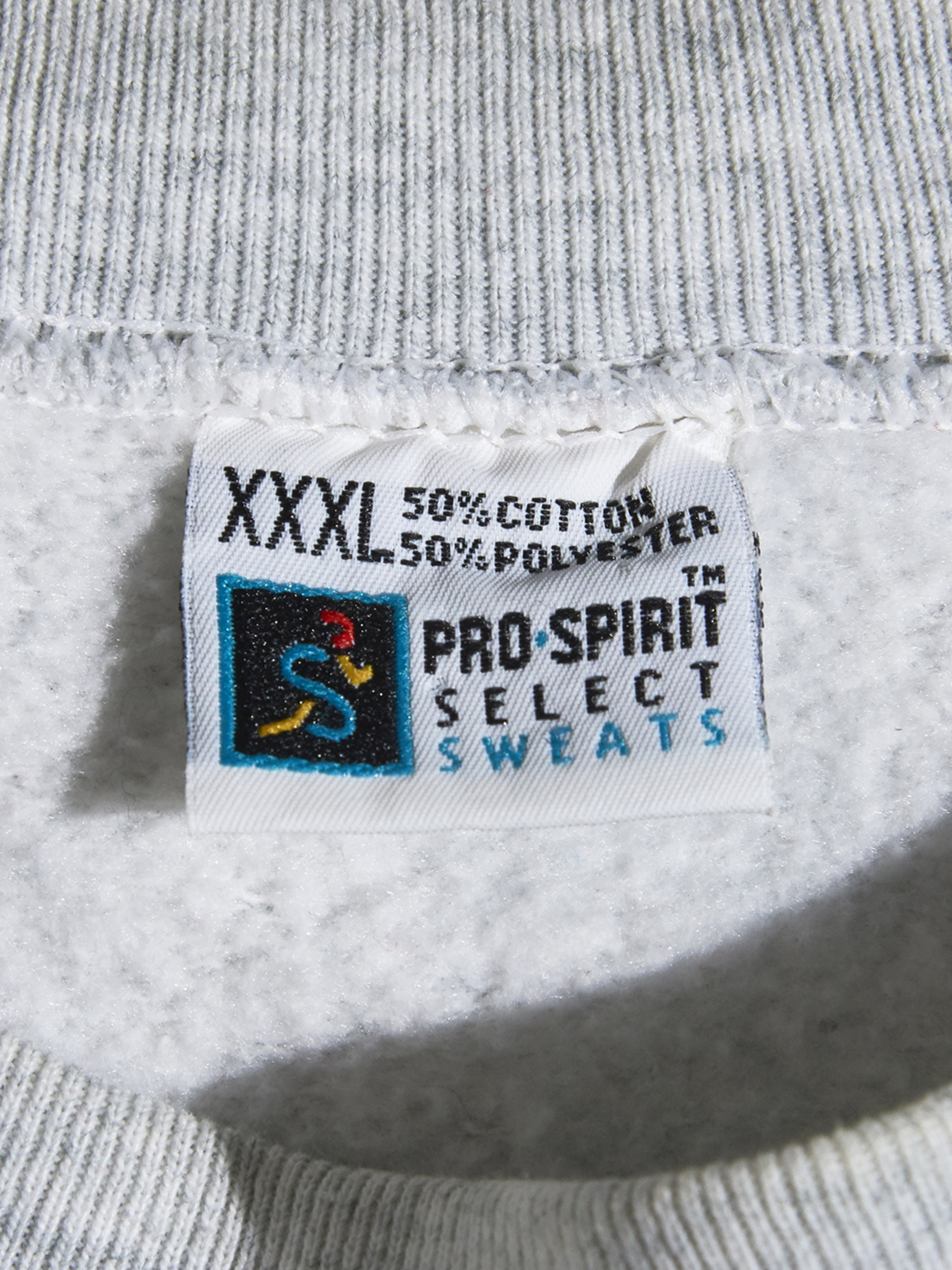 """1990s """"unknown"""" hand print sweat -OATMEAL-"""