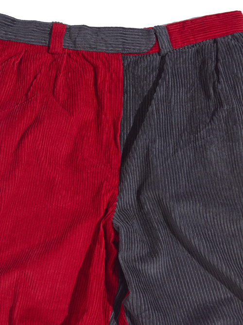 "1980s ""unknown"" crazy pattern corduroy pants -CRAZY-"