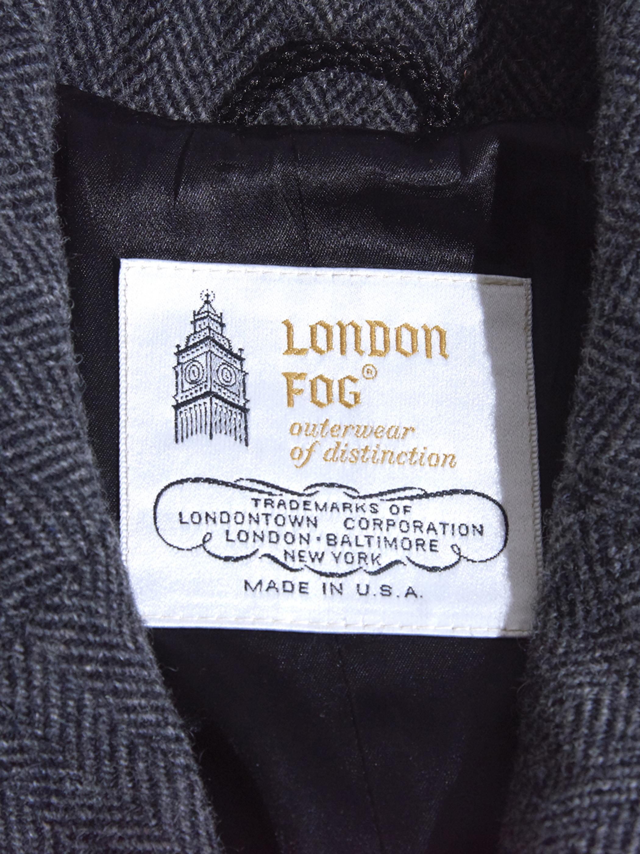 "1980s NOS ""LONDON FOG"" tweed coat -GREY-"