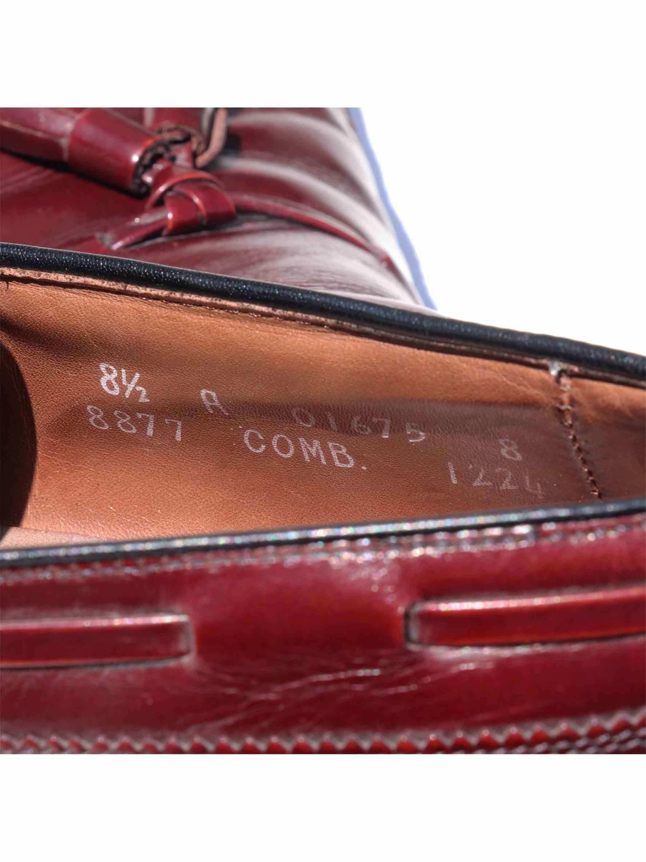 "80's ALLEN EDMONDS ""BERWICK"" USA製 ロングウィングチップ タッセルローファー [8-1/2 A]"