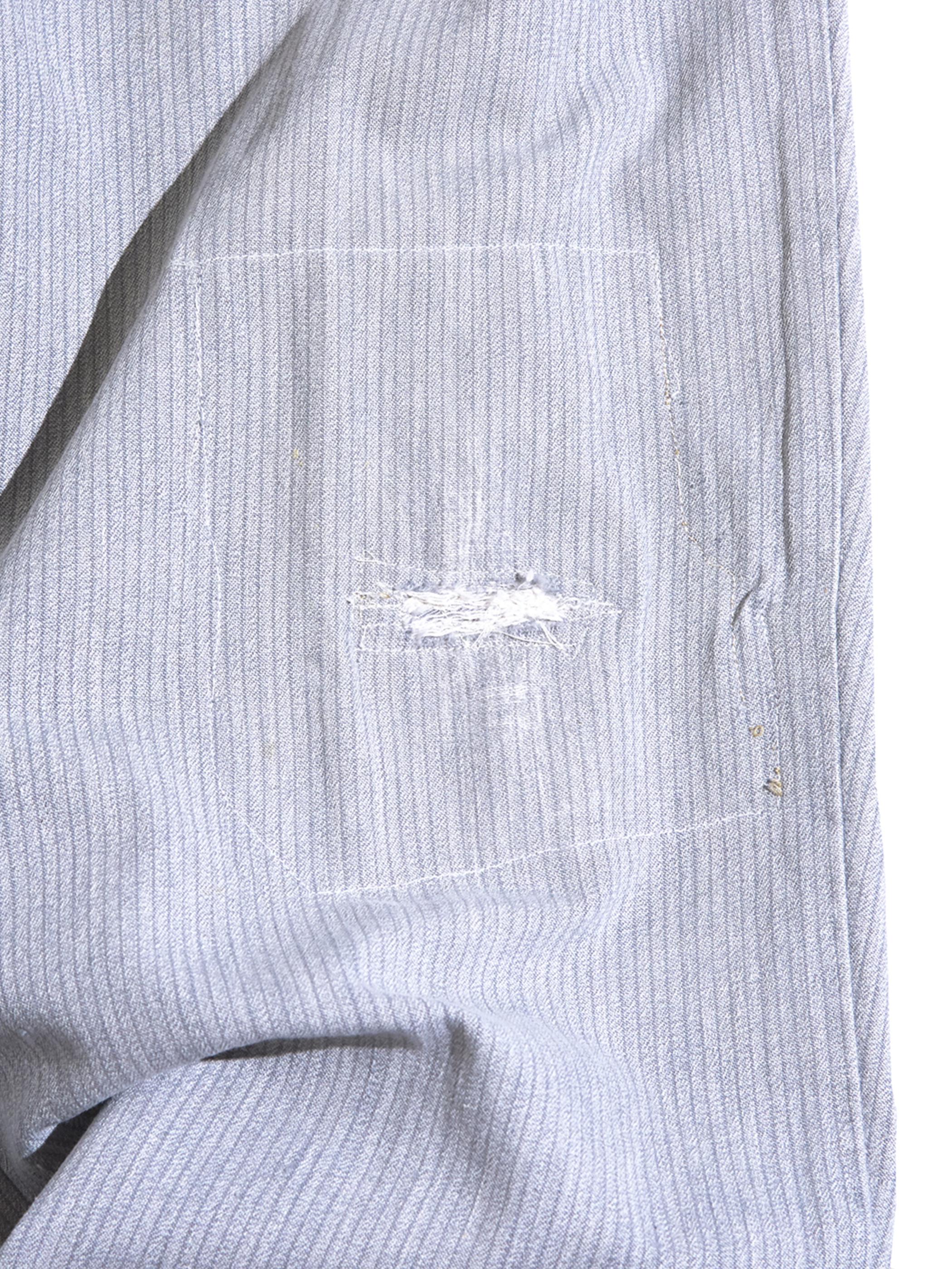 "1950s ""unknown"" cotton stripe work trousers -GREY- <SALE¥20000→¥16000>"