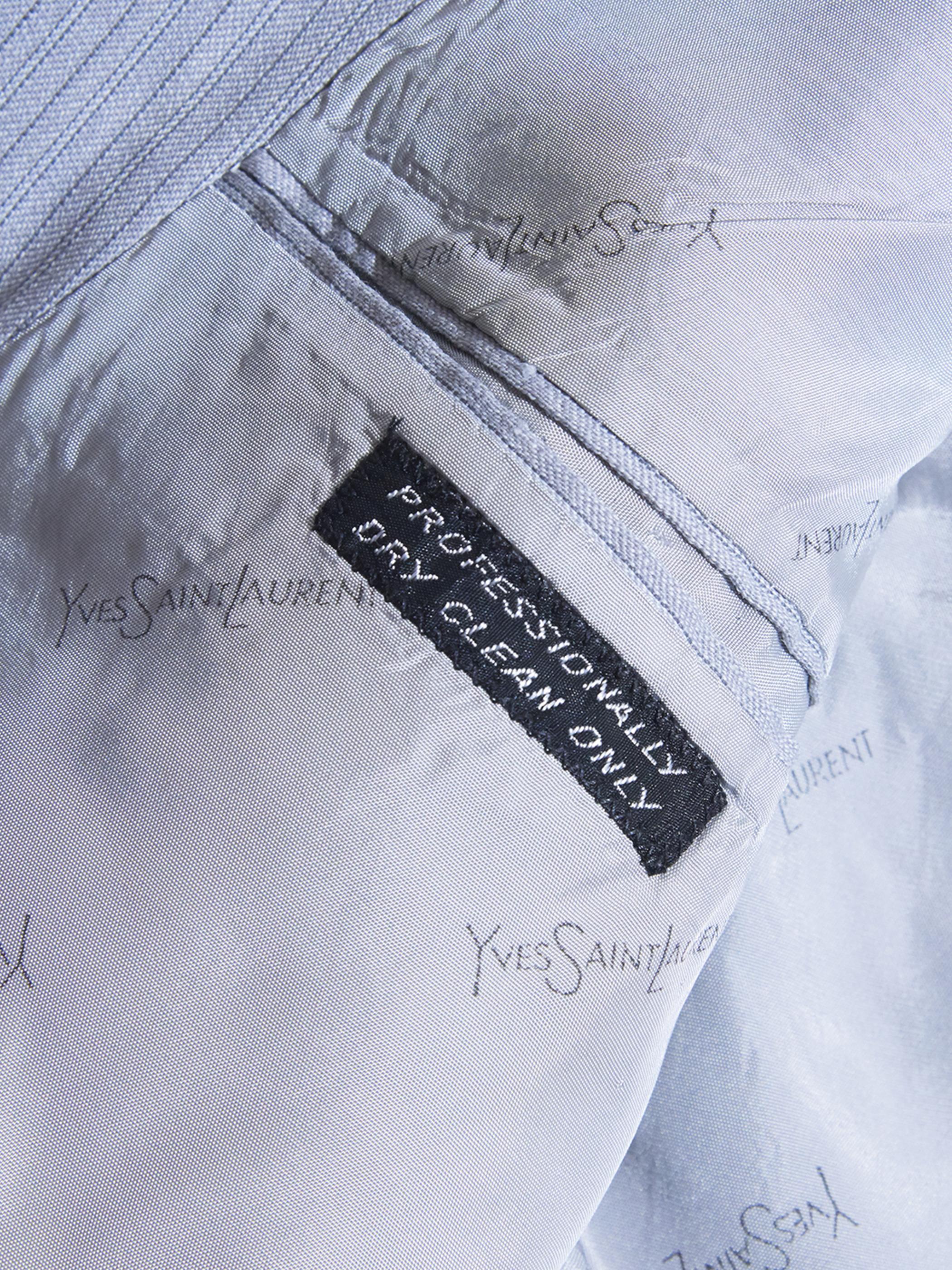 """1970s """"YVE SAINT LAURENT"""" wool 3piece suits -LIGHT GREY-"""