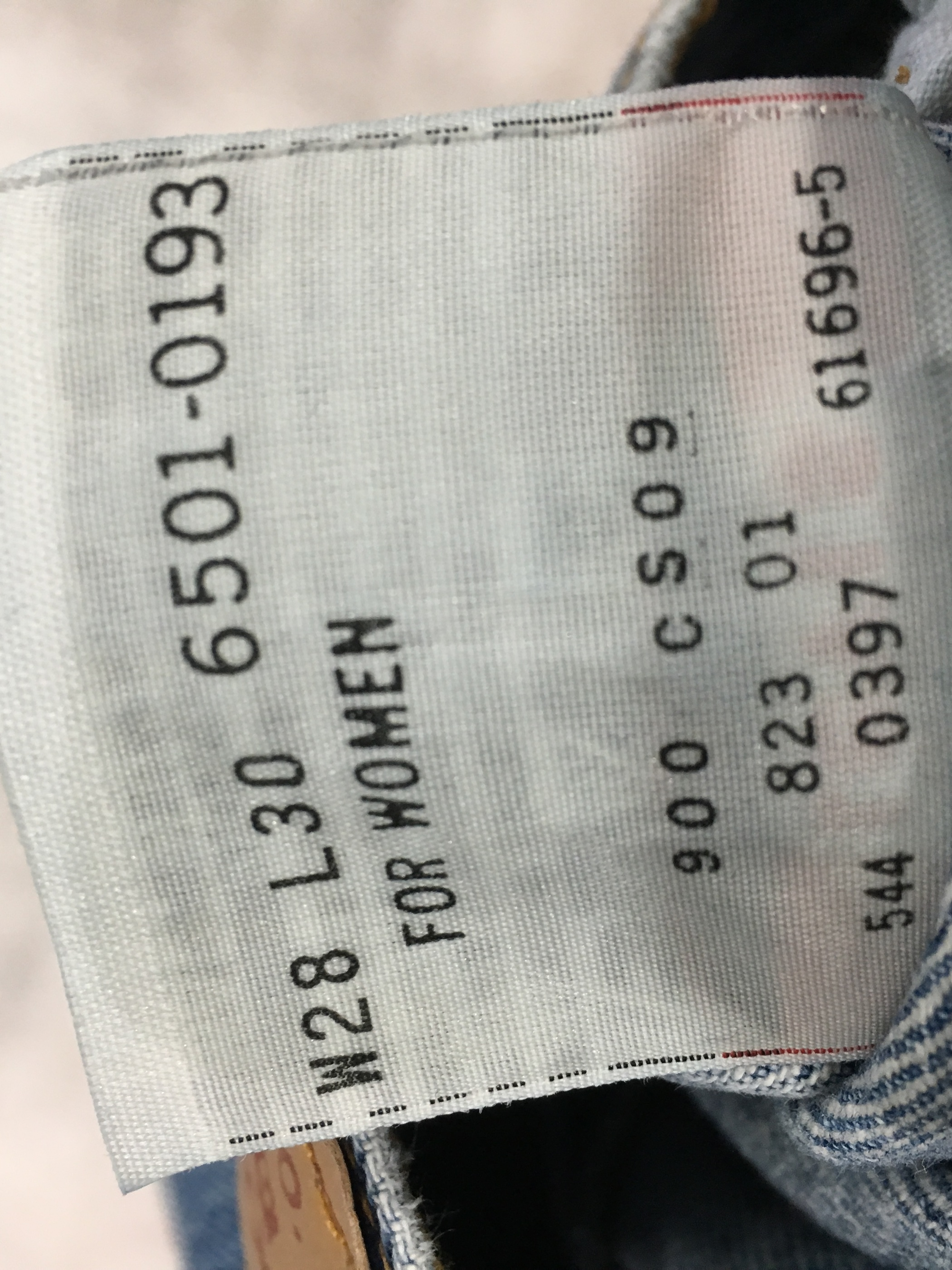Levi's 501 denim pants