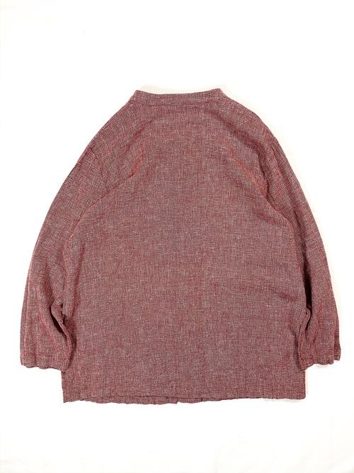 linen/cotton stand collar jacket