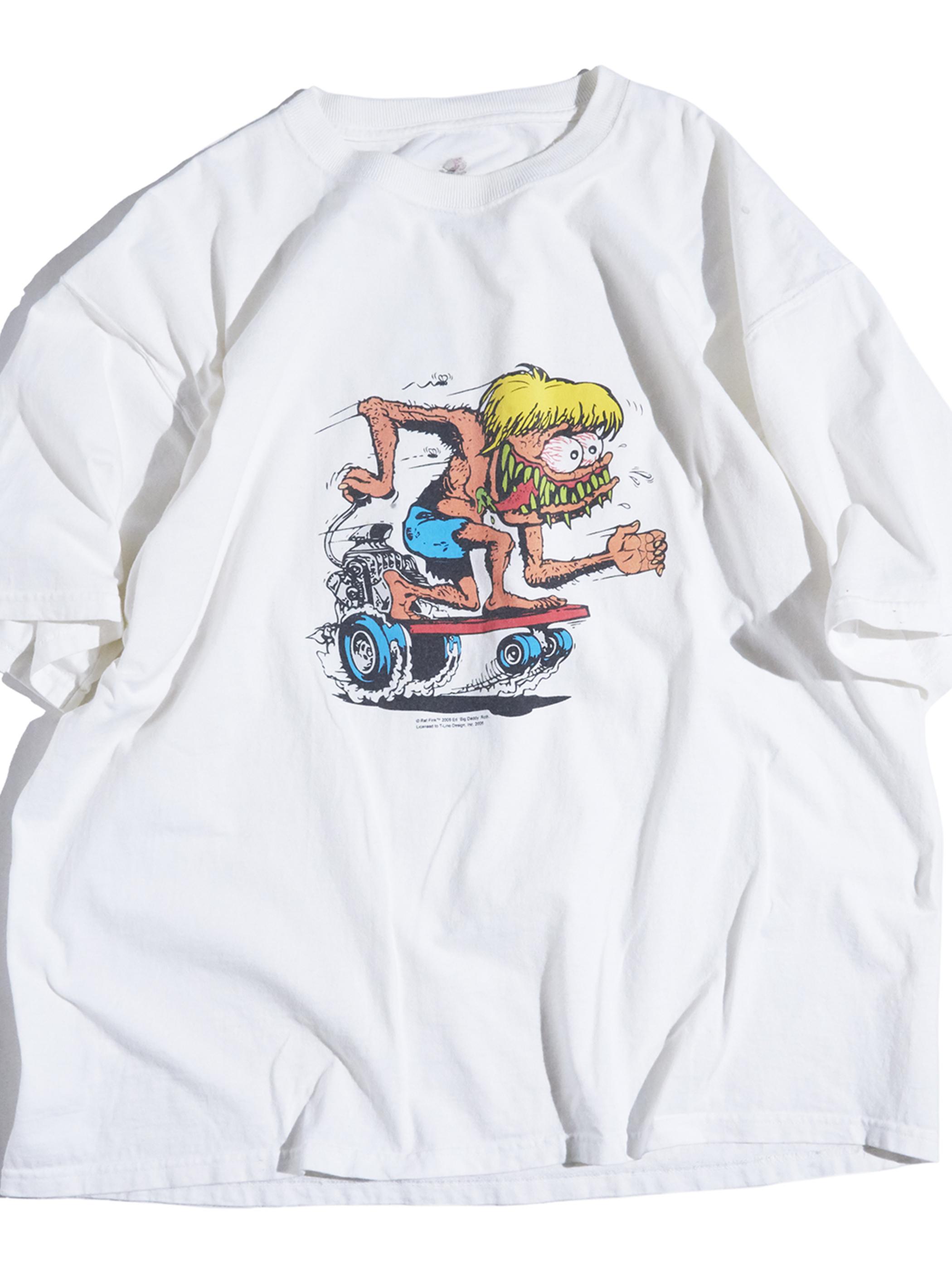 "2000s ""RAT FINK"" print tee -WHITE-"