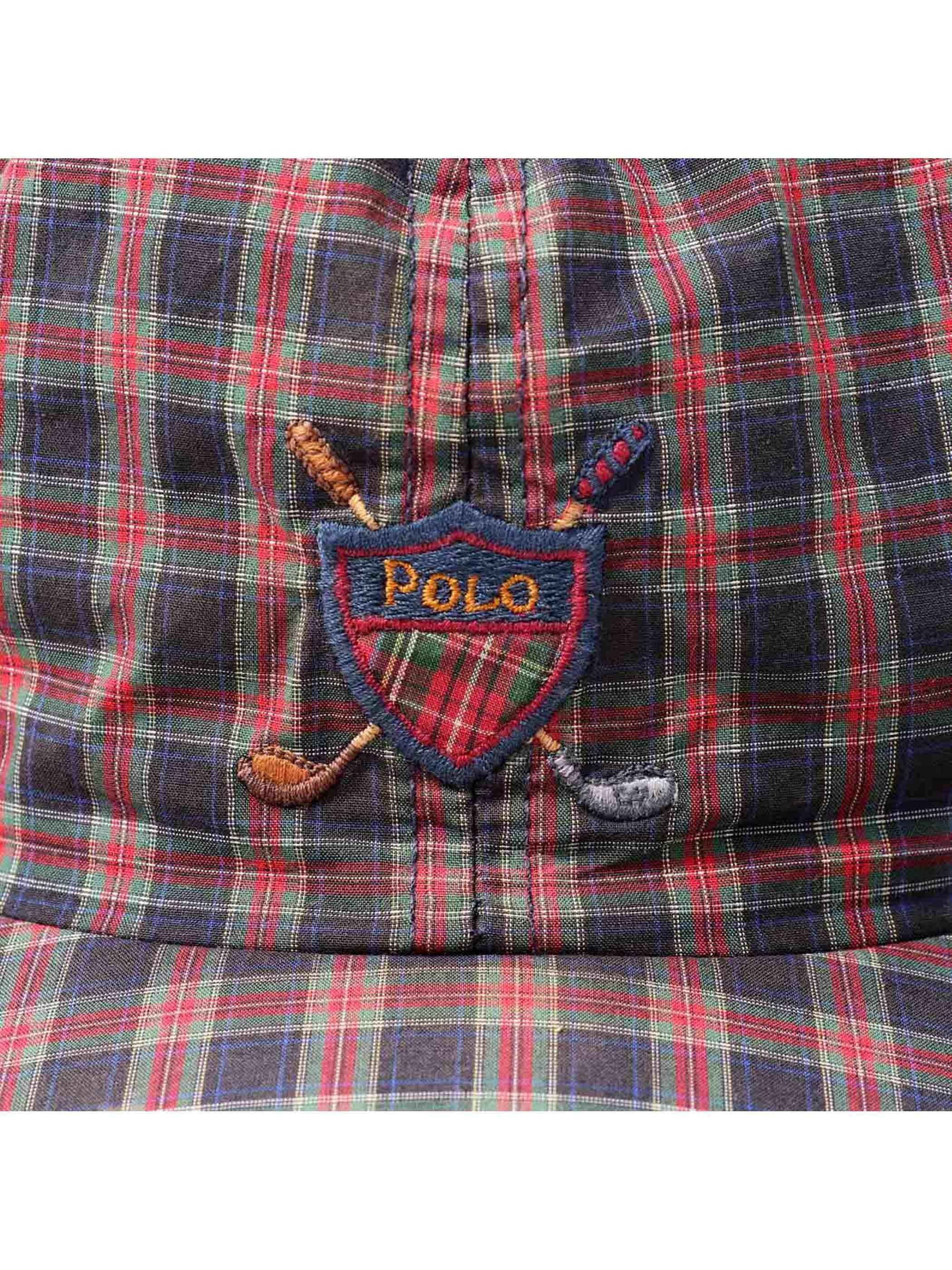 90's POLO RALPH LAUREN USA製 タータンチェック ストラップバックキャップ [FREE]