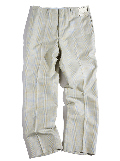 "1960s ""Day's"" tarpered check slacks -KHAKI-"