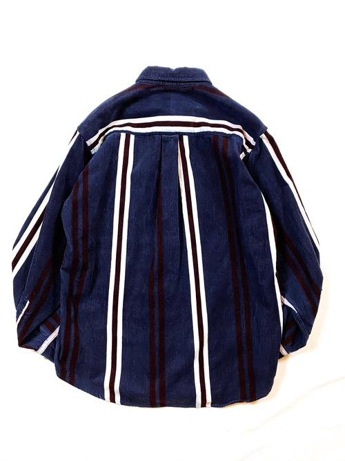 stripe design corduroy shirt