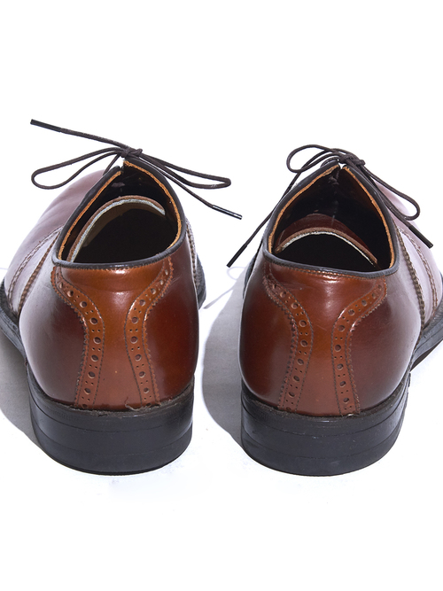 "1960s ""Footjoy"" leather shoes -BROWN-"
