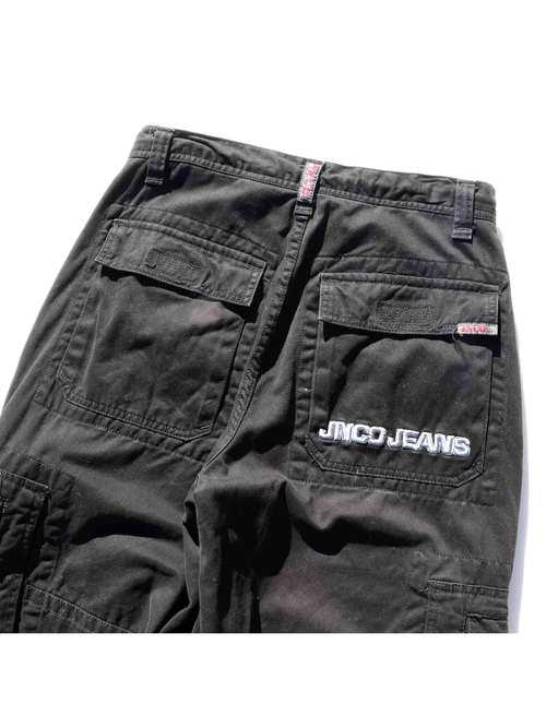 90's JNCO JEANS 6ポケット アーミーツイル バギーパンツ [W32]