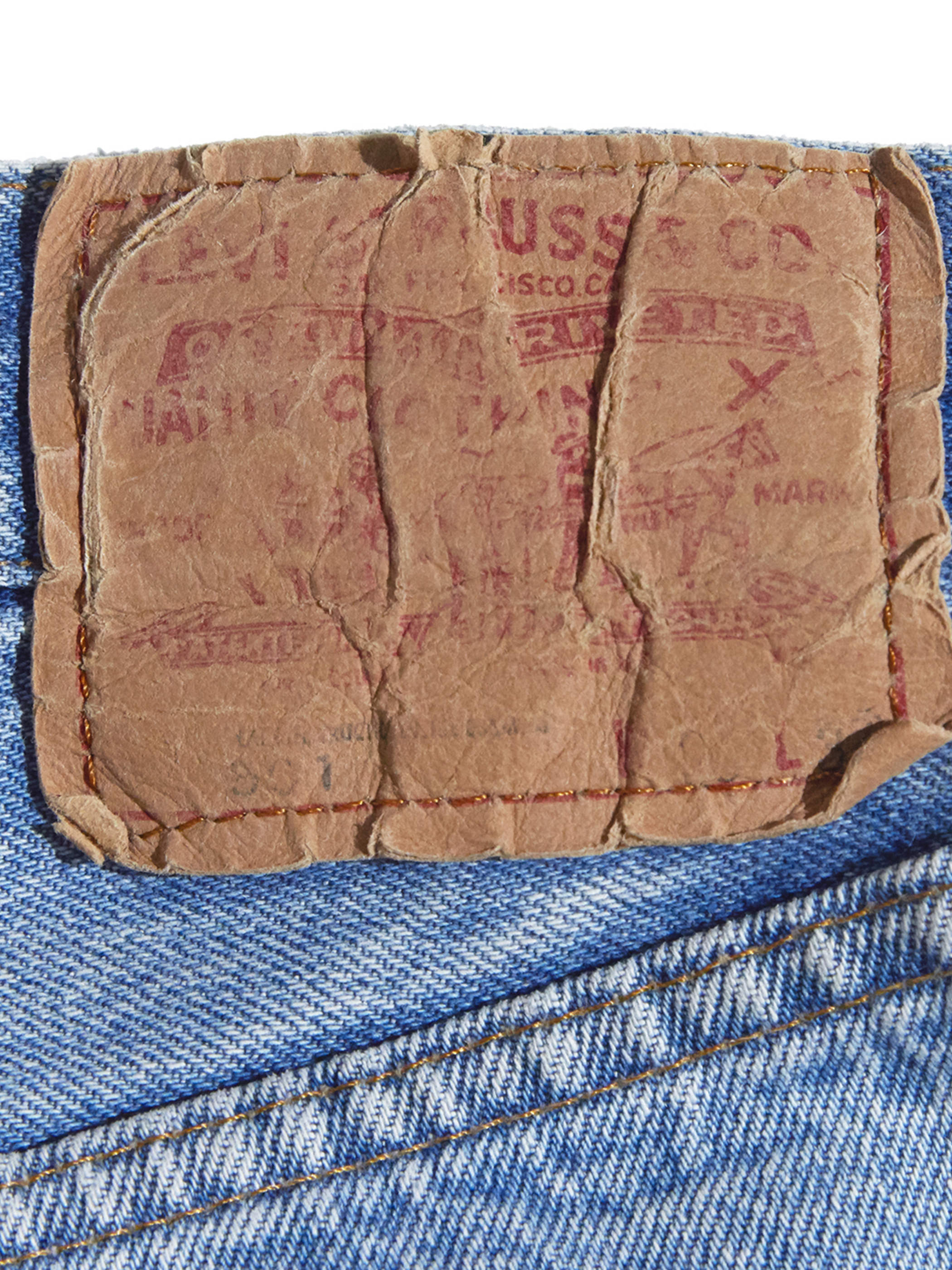 "1980s ""Levi's"" Lot.501 custom center crease denim pants #2"