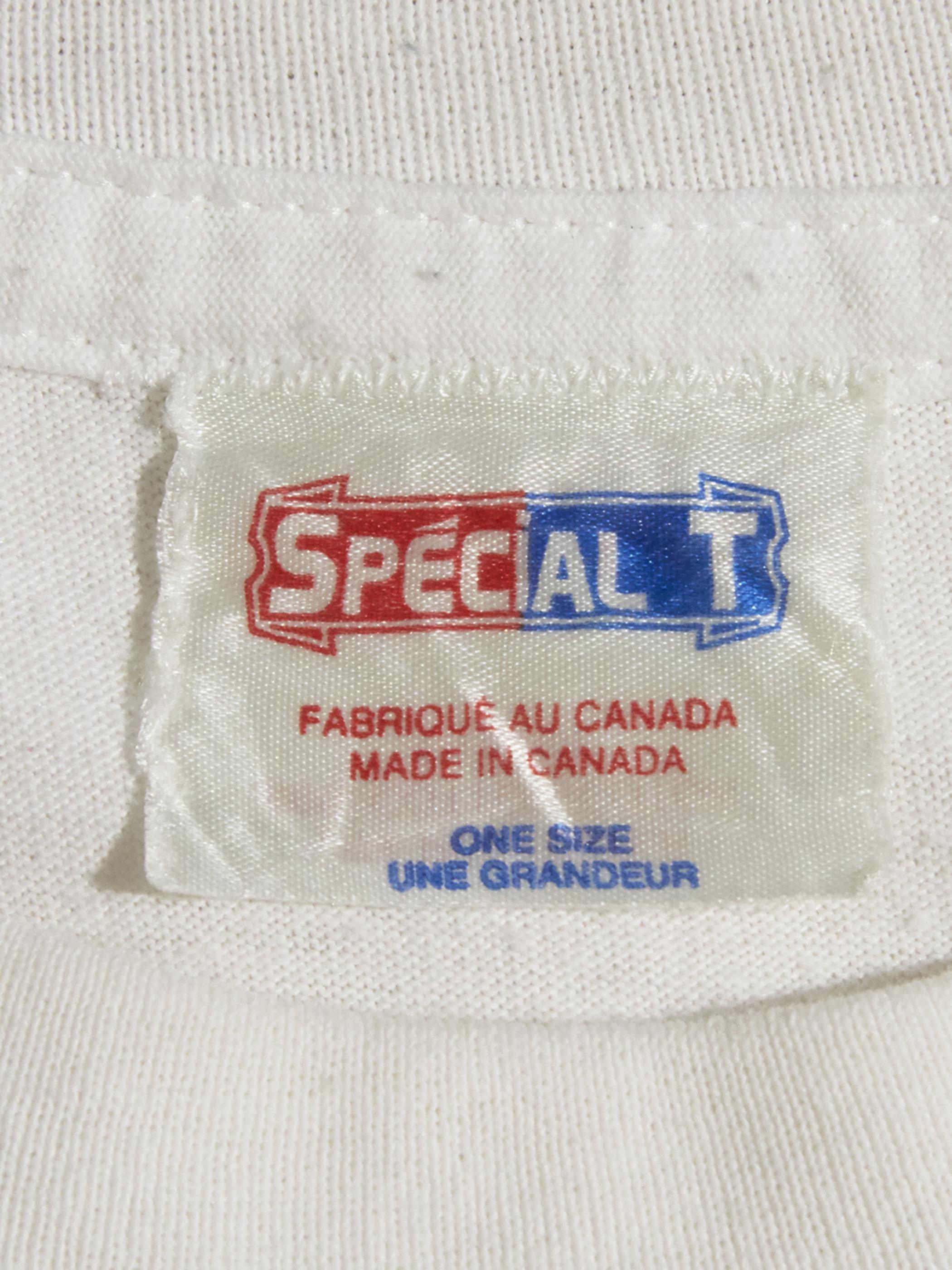 """1980s """"unknown"""" print tee -WHITE-"""