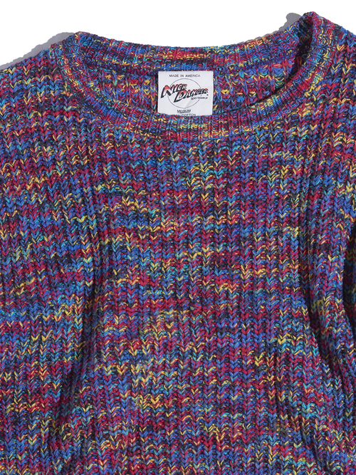 "1980s ""NICK DANGER"" cotton melange knit -MELANGE-"