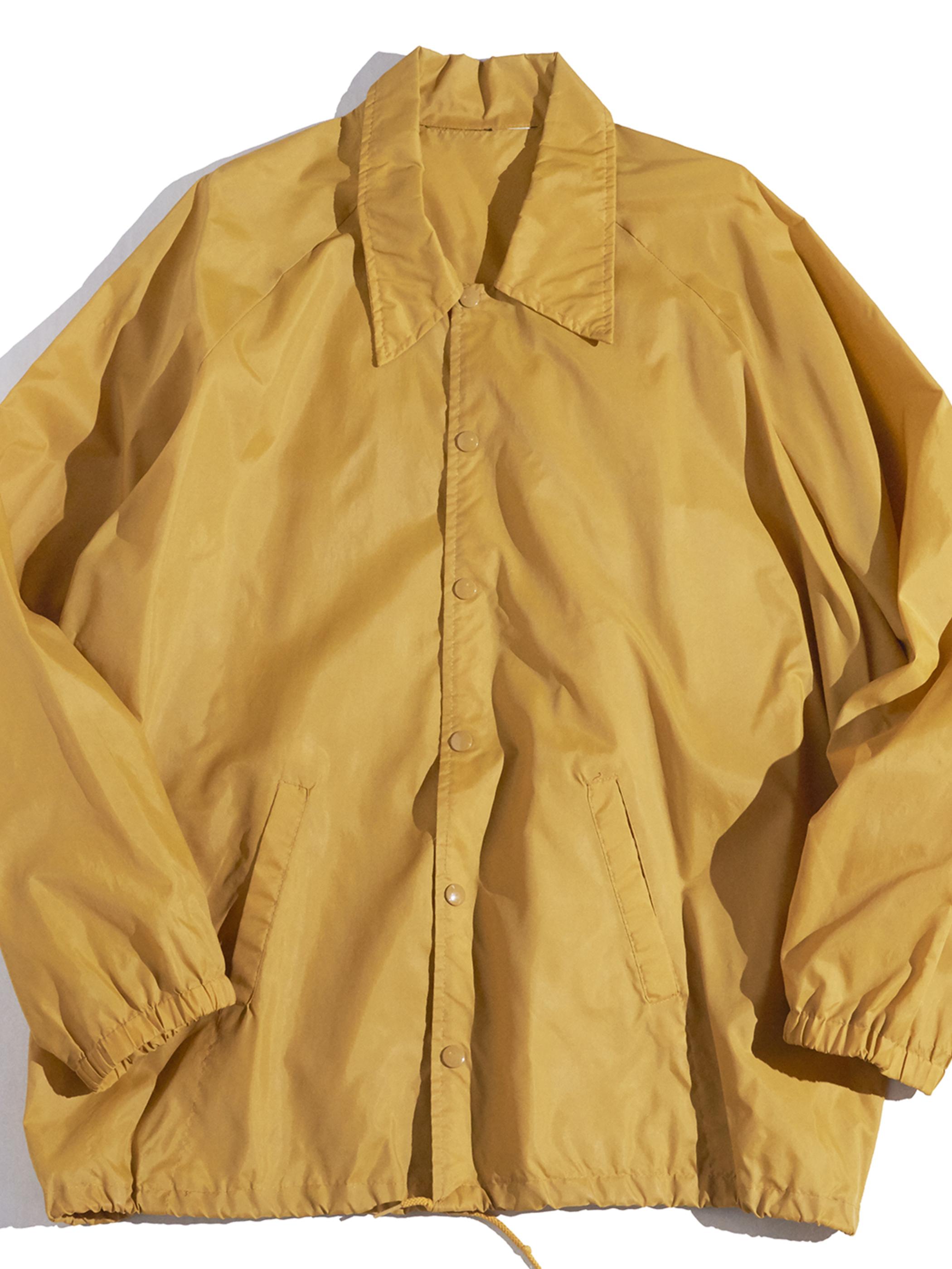 "1970s ""unknown"" nylon coach jacket -MUSTARD-"