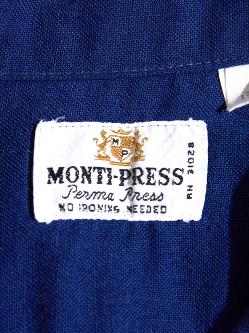 "1970s ""MONTI-PRESS"" lined shirt -NAVY-"