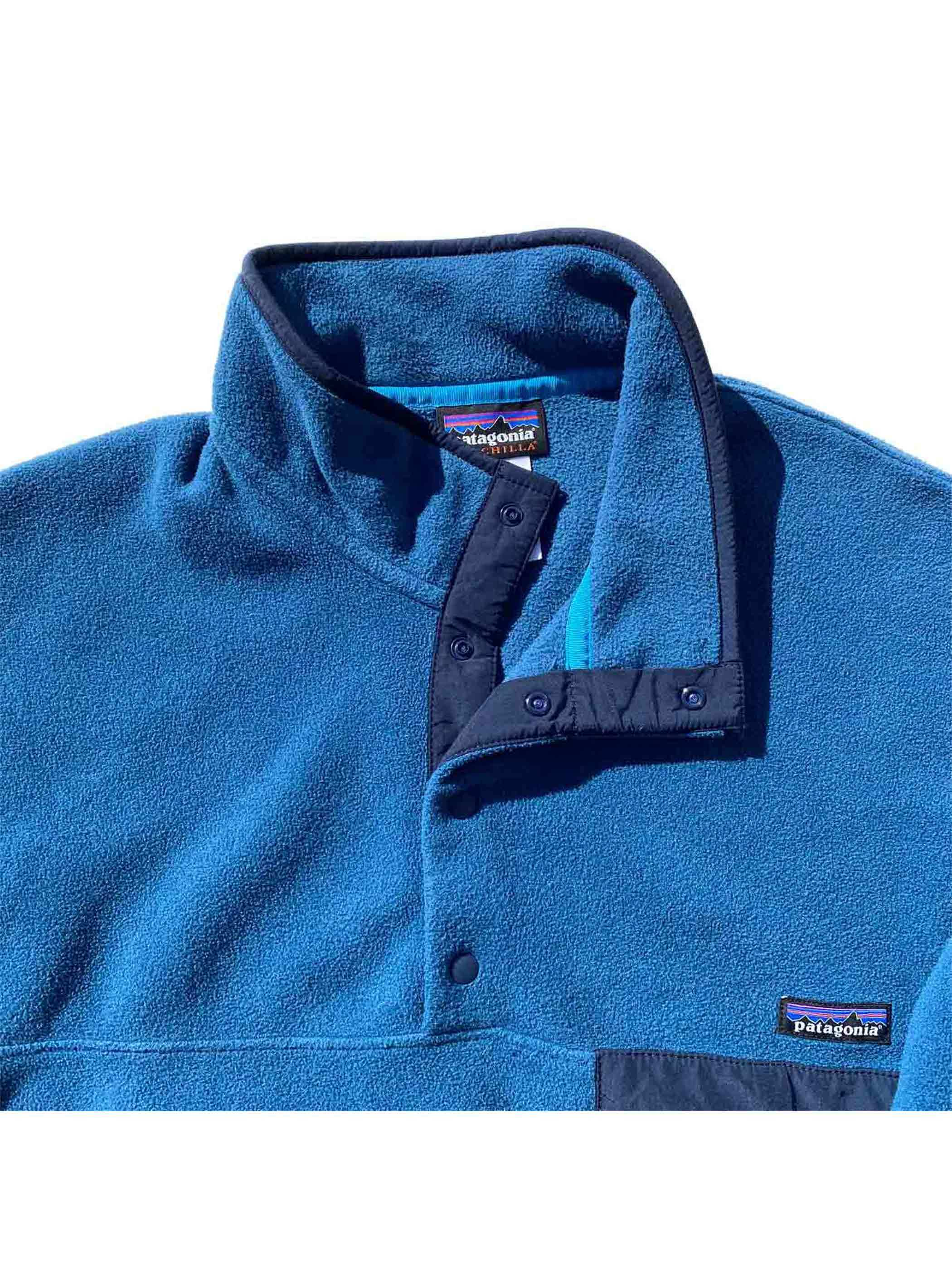 00's~ PATAGONIA SYNCHILLA Snap-T Blue [L]