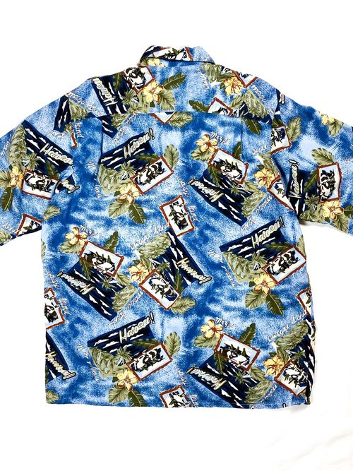 90's PAZZO rayon aloha shirt