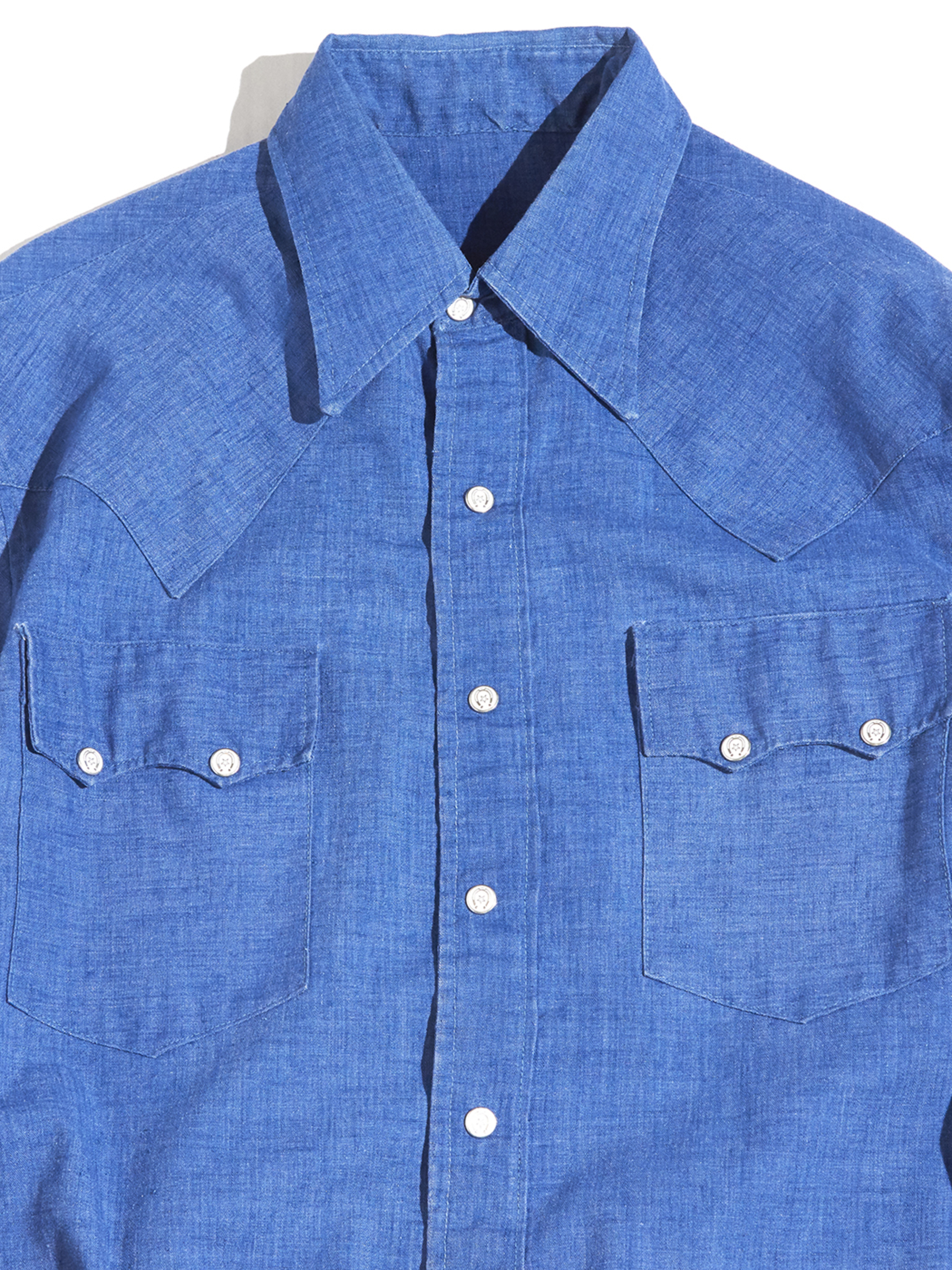 "1960s ""unknown"" denim western shirt -BLUE- <SALE¥25000→¥20000>"