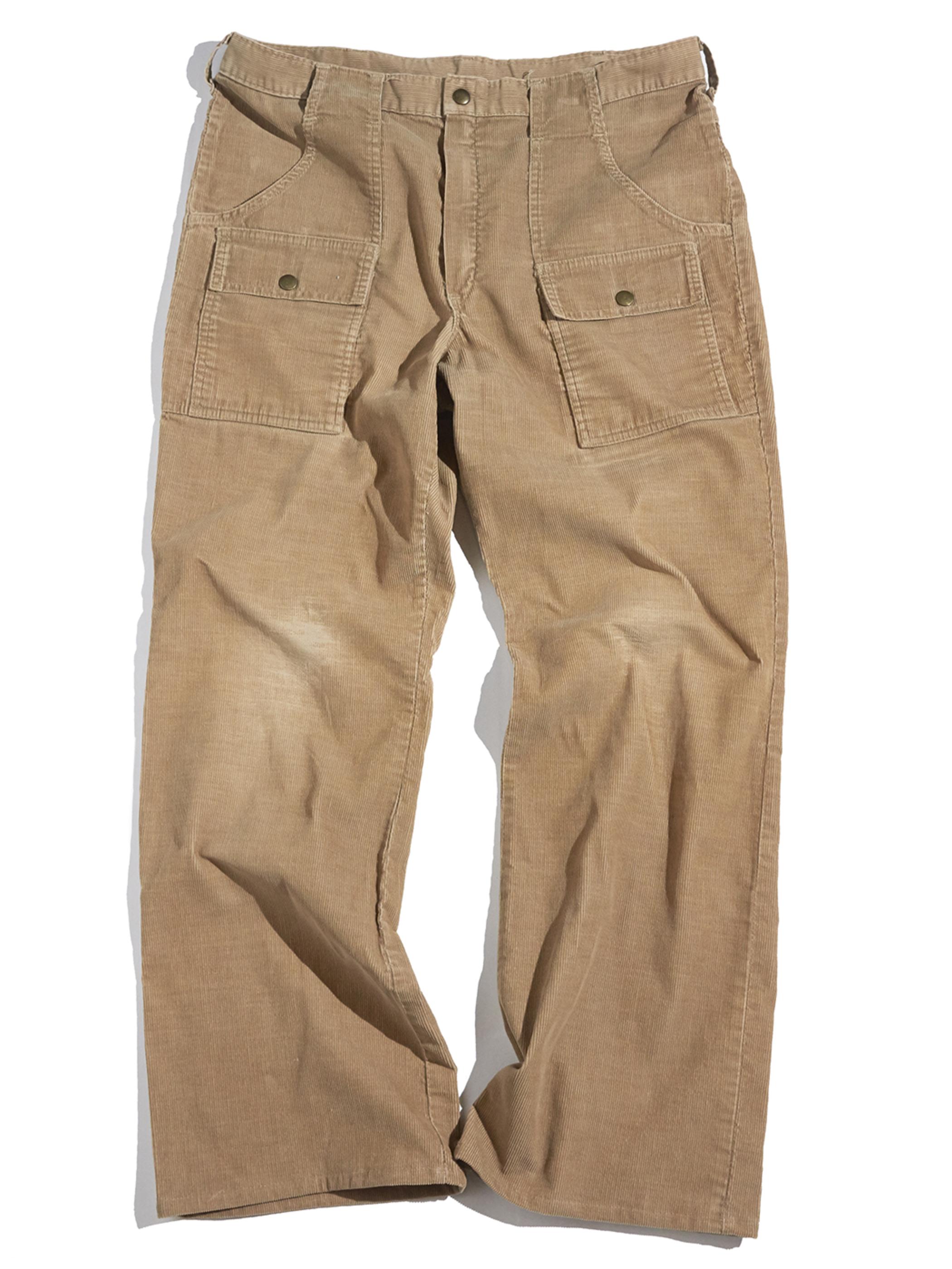 "1970s ""Woolrich"" corduroy bush pants -BEIGE-"