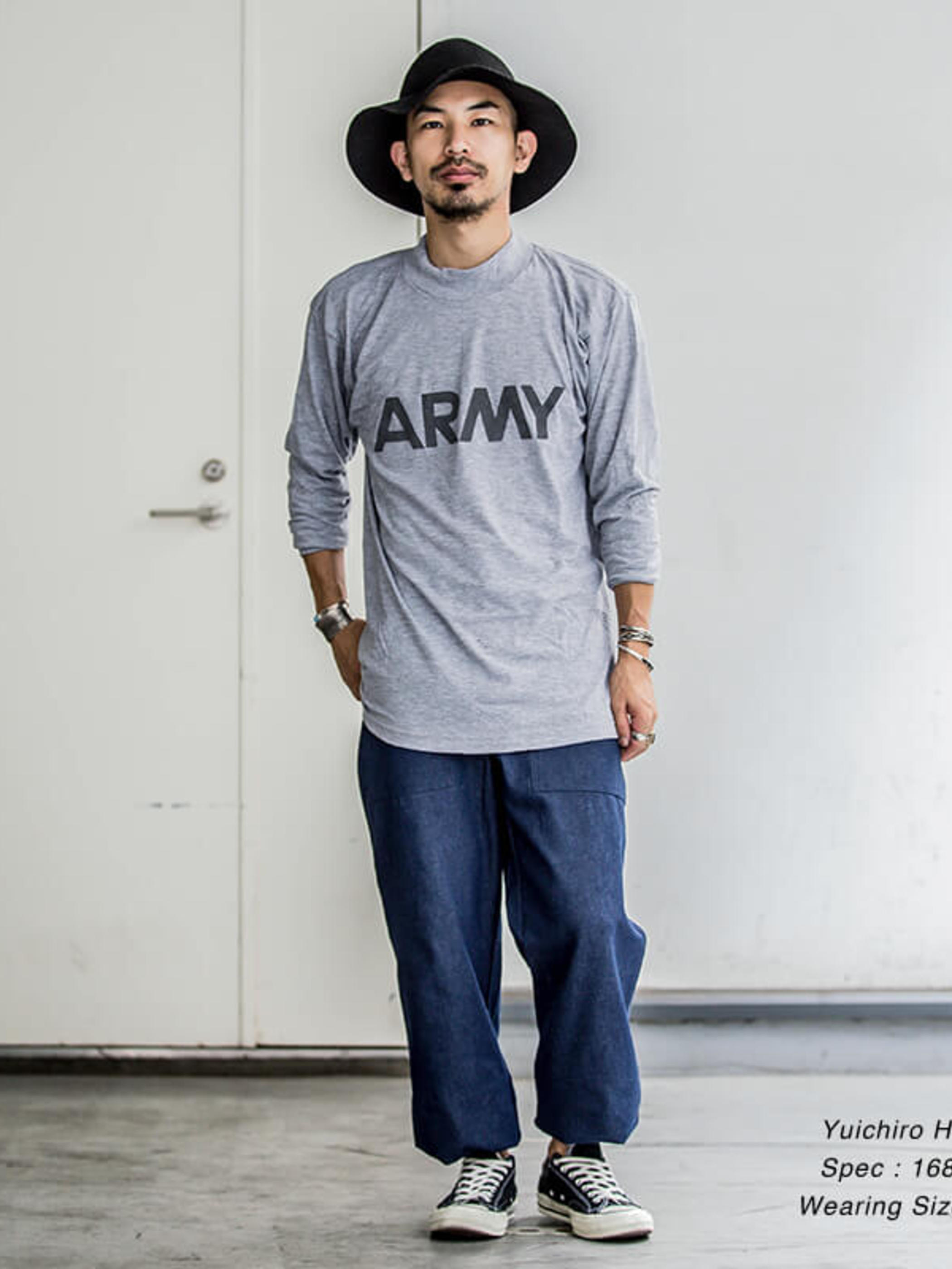 US Army / Deadstock / Mock neck Long Sleeve T-Shirt