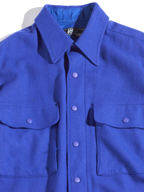 "1970s ""LOBO"" wool shirt -PURPLE- <SALE¥10000→¥8000>"