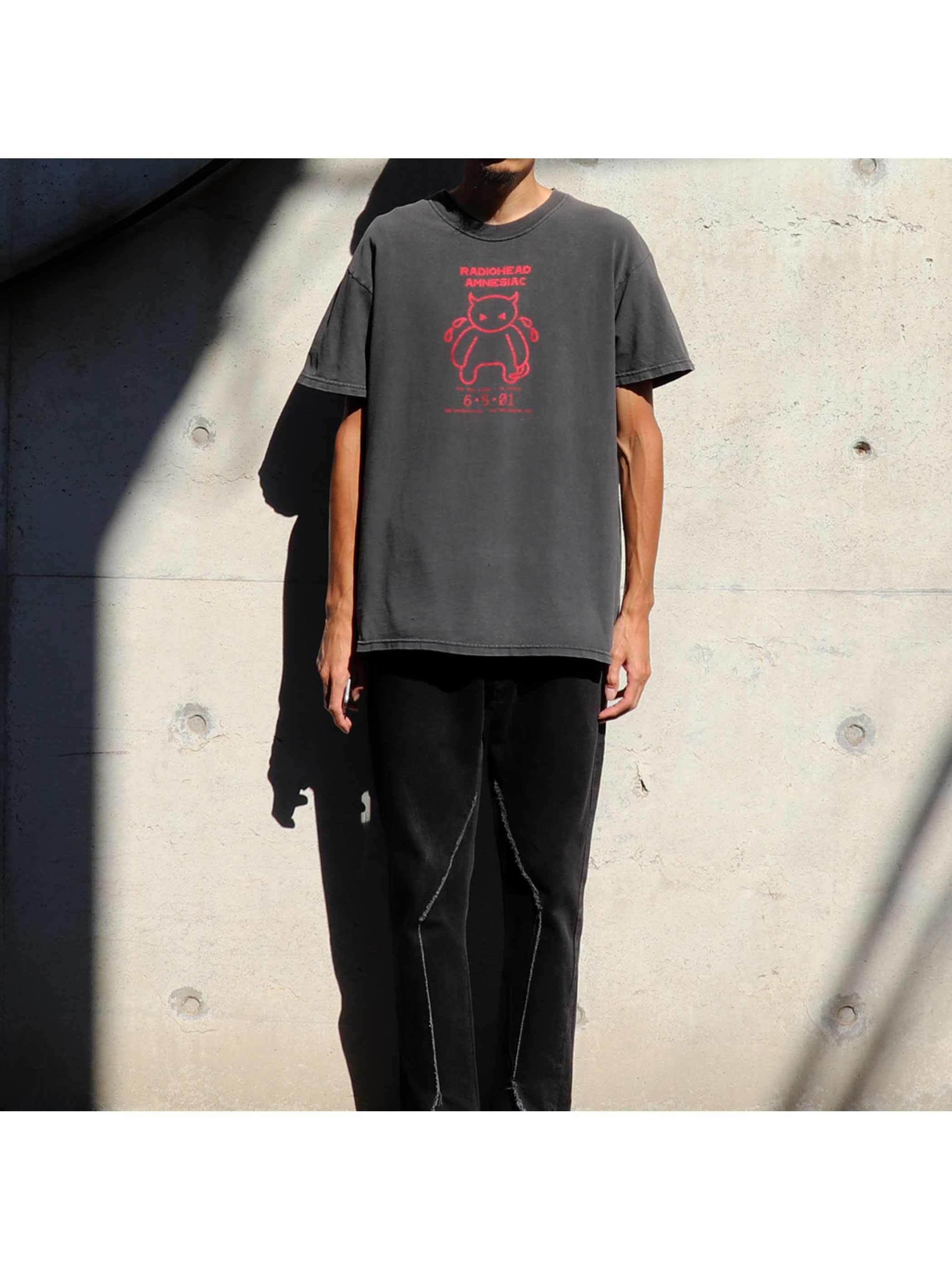 "00's RADIOHEAD ""AMNESIAC / RASPUTIN MUSIC"" プロモTシャツ [M]"