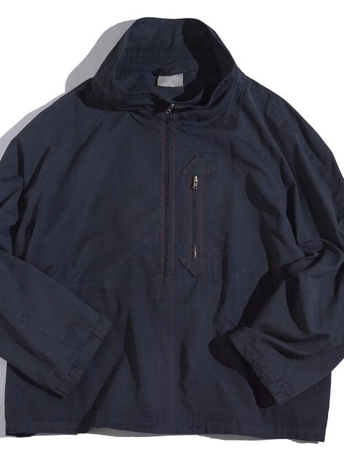 """1990s """"unknown"""" high neck anorak jacket -BLACK-"""