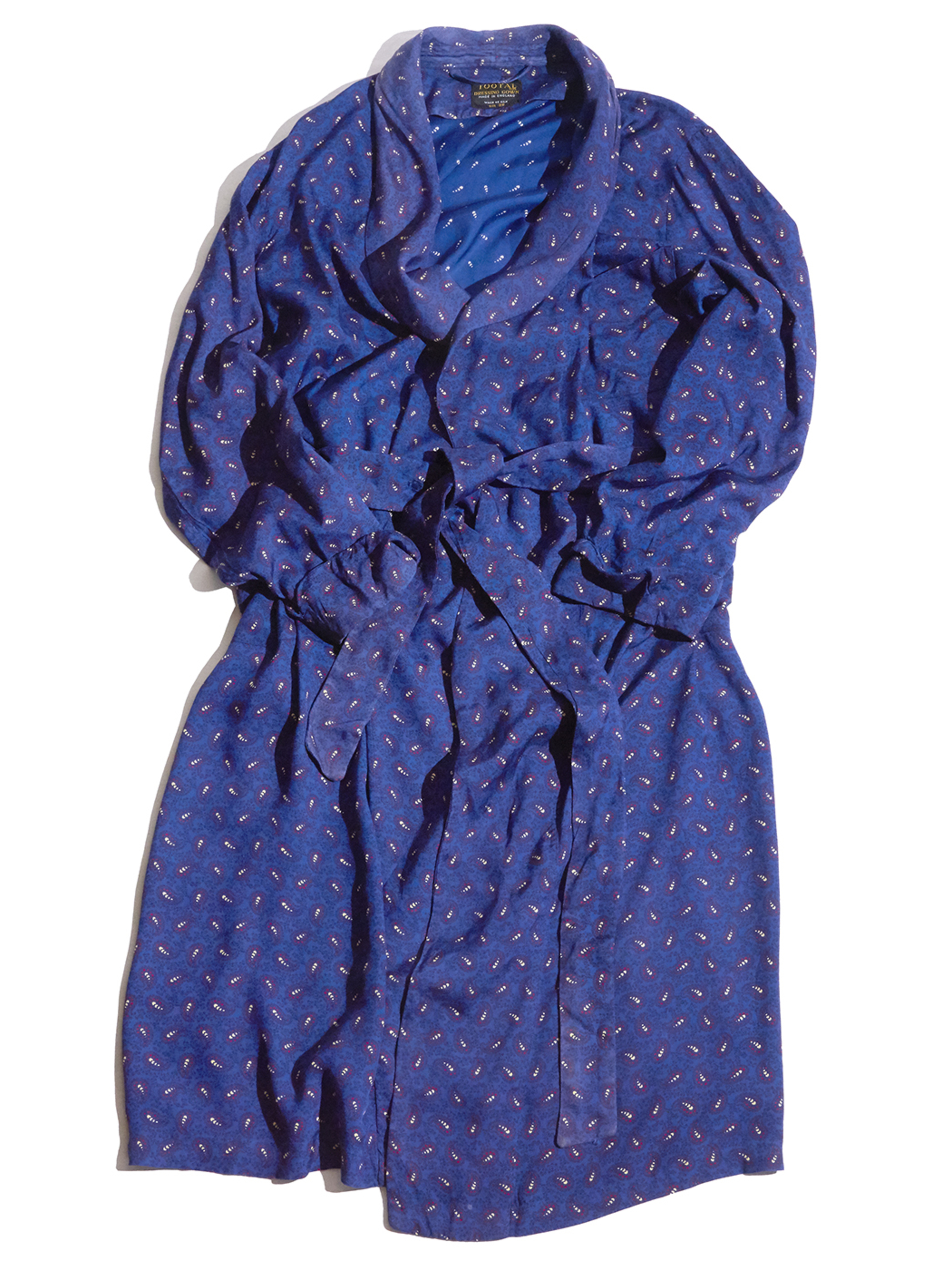 """1960s """"TOOTAL"""" silk pattern gown -NAVY-"""