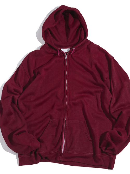 "1970s ""SEARS"" zip up sweat hoodie -BURGUNDY-"