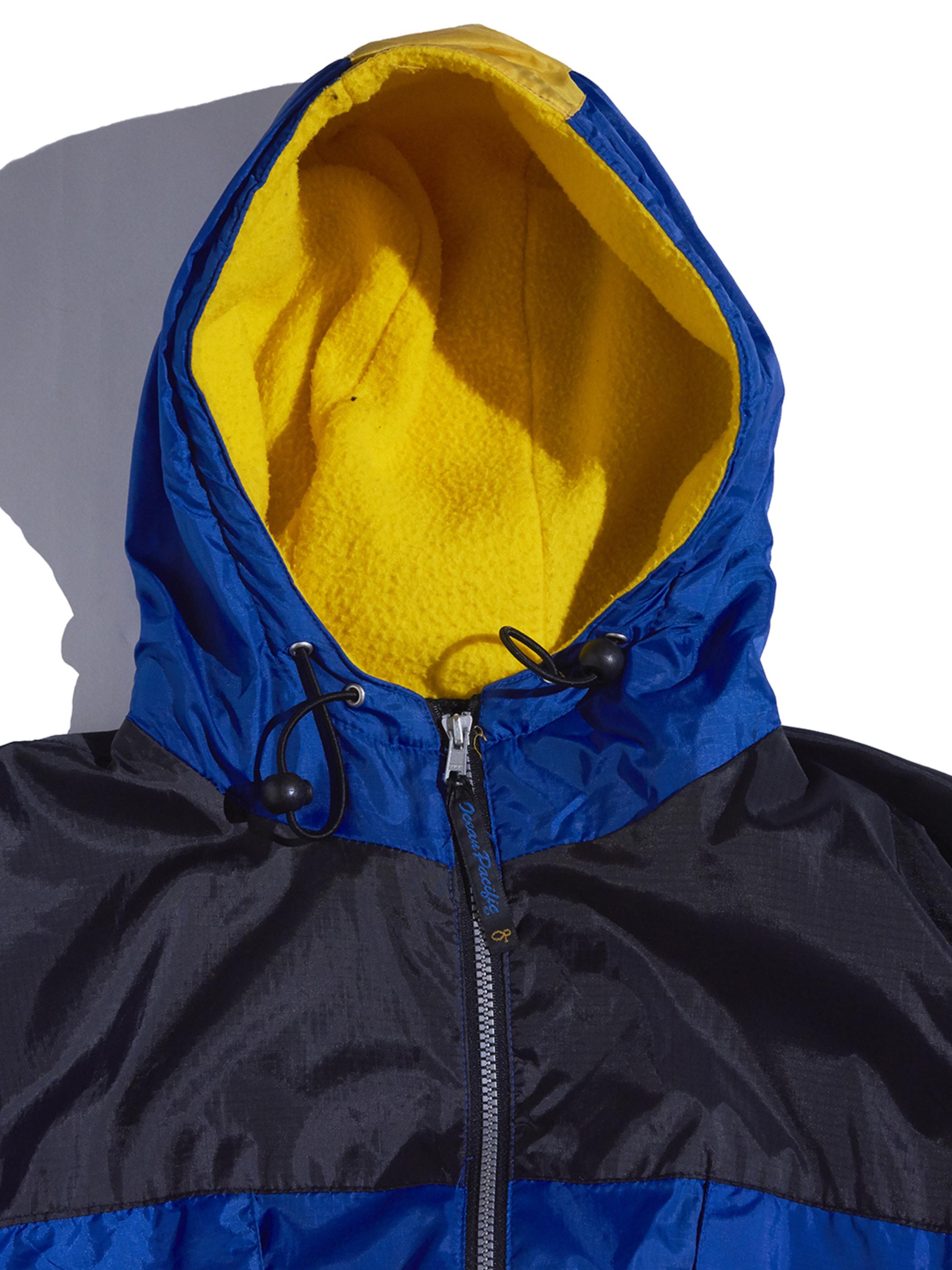 "1990s ""OP"" nylon zip up hooded jacket -BLUE-"