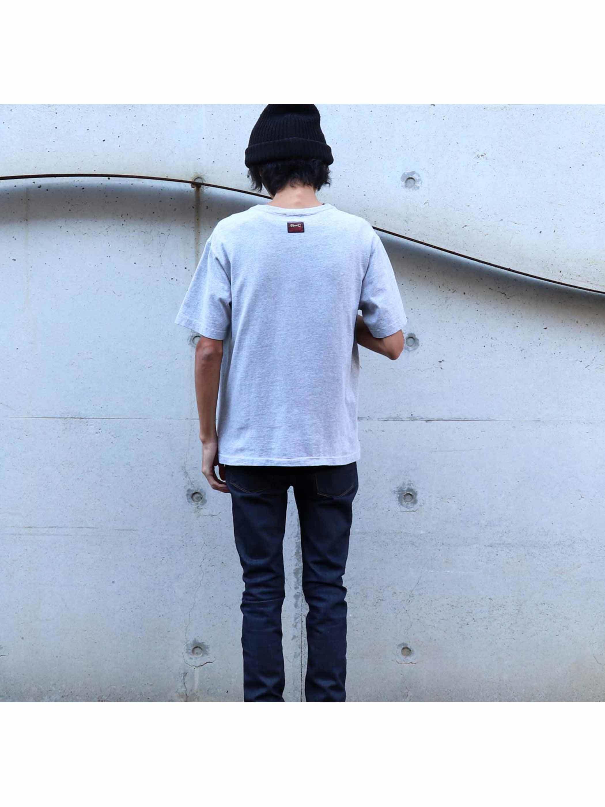 90's~ H BAR C ウエスタンスナップ ポケットTシャツ [L]
