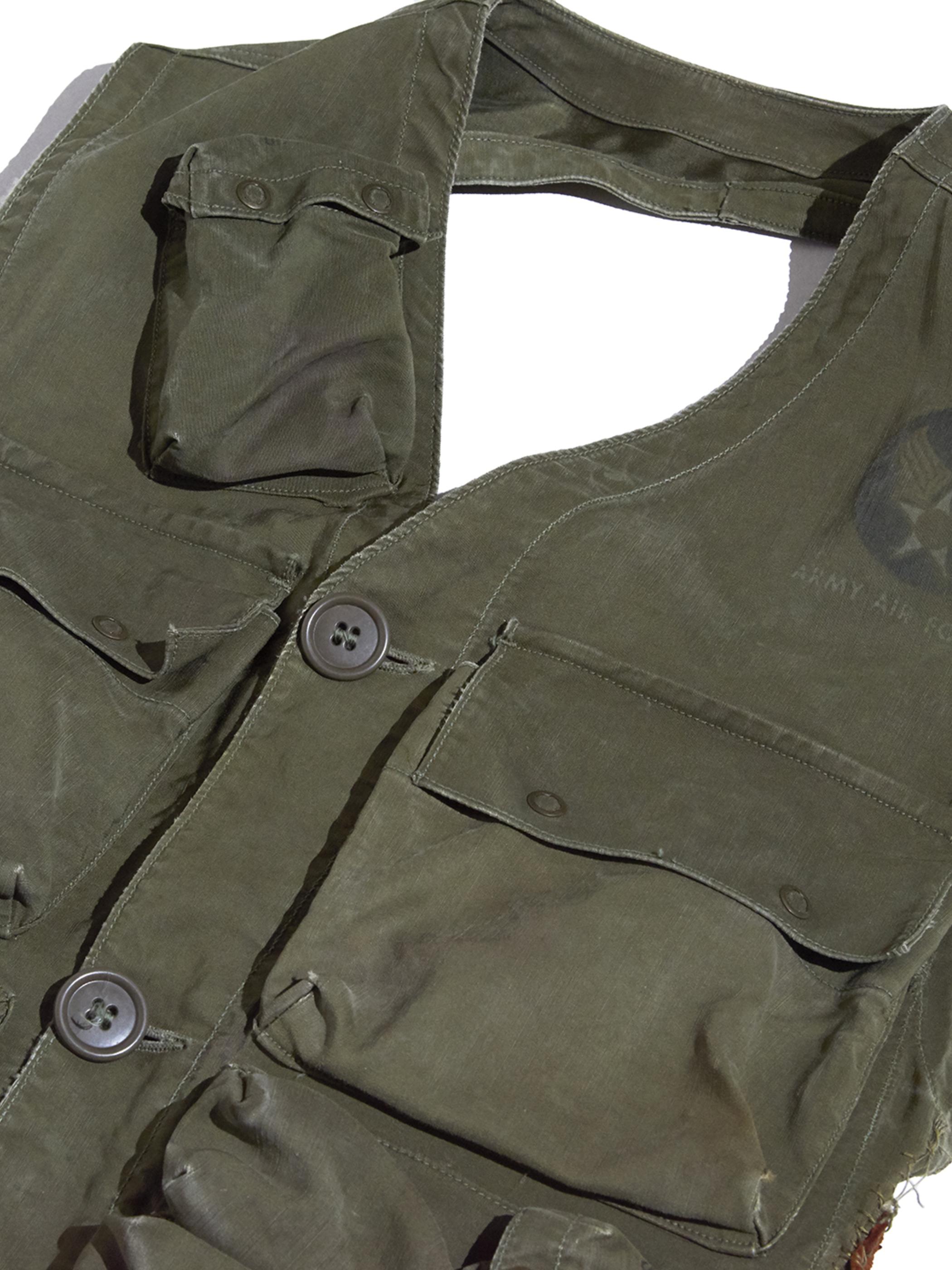 """1940s """"USAAF"""" C-1 flight vest -OLIVE-"""