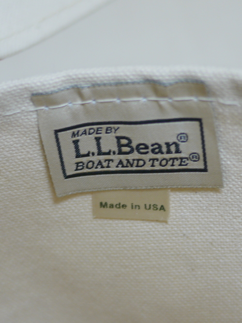 "L.L.Bean BOAT&TOTE CANVAS BAG ""Red"""