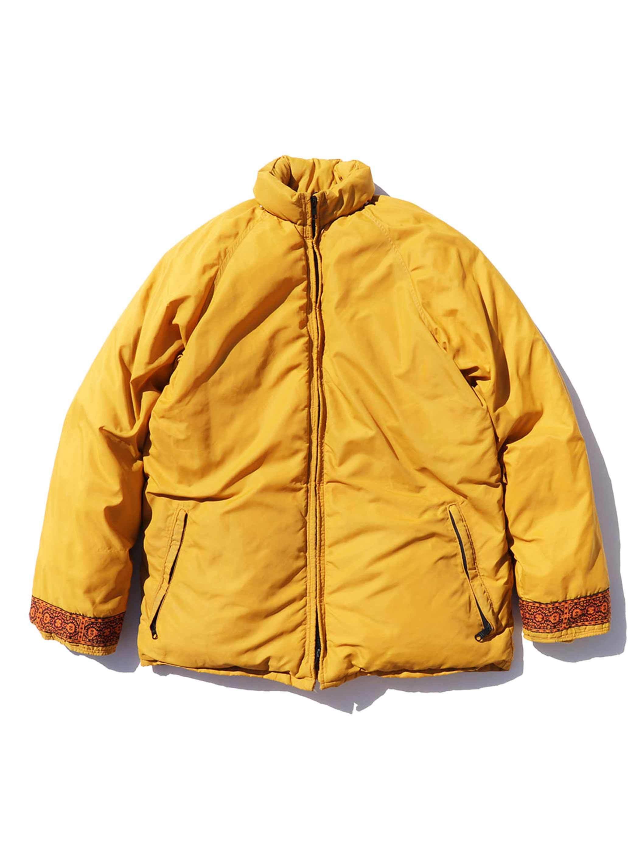 70's~ UNKNOWN Non-Stitch Mustard Down Jacket [About L]