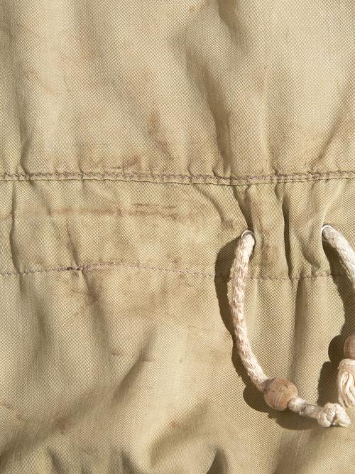 """1950s """"unknown"""" cotton smock parka -KHAKI-"""