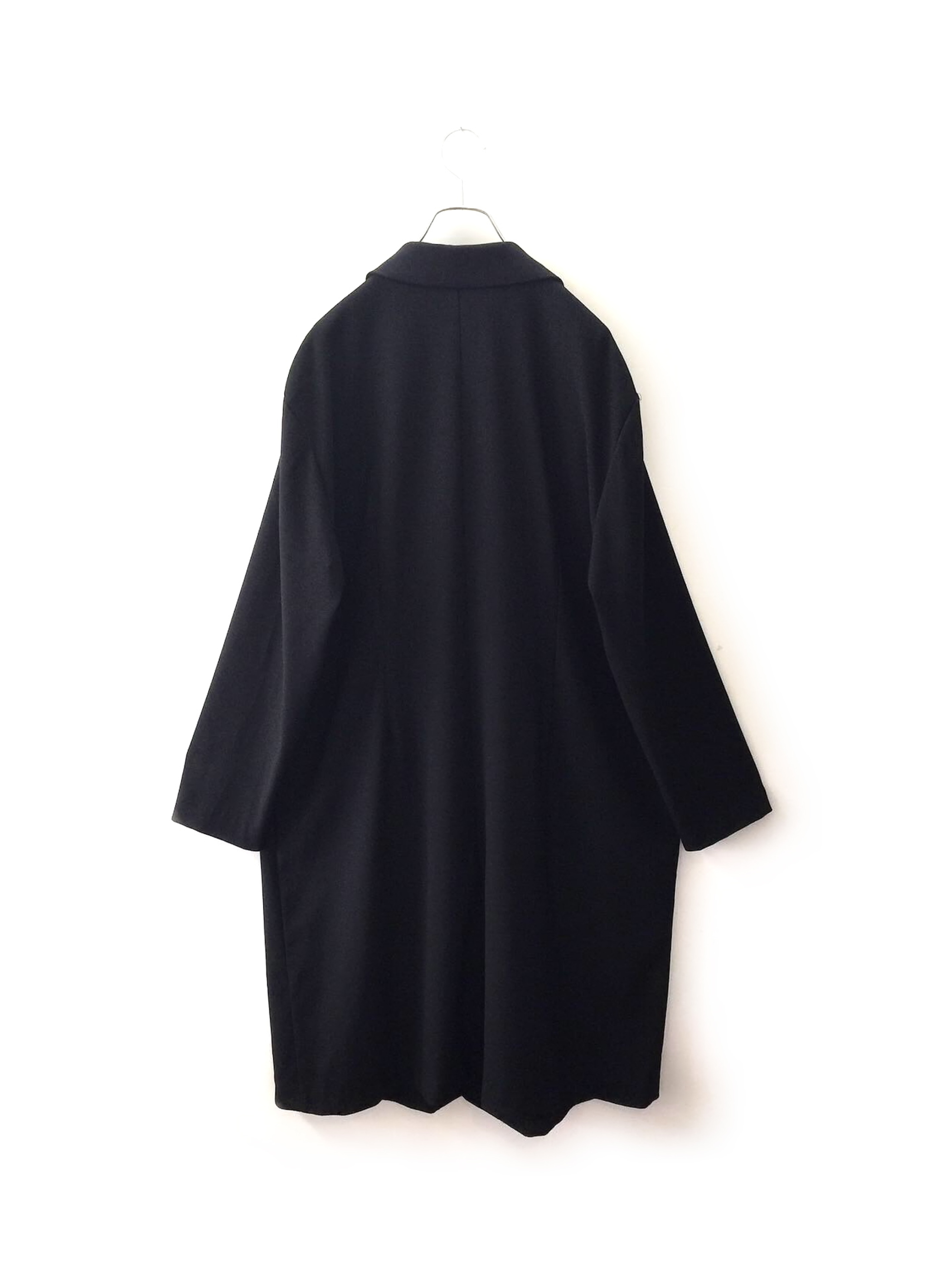 DANI MAX 薄手 ロングコート 羽織り オーバーサイズ ブラック 古着
