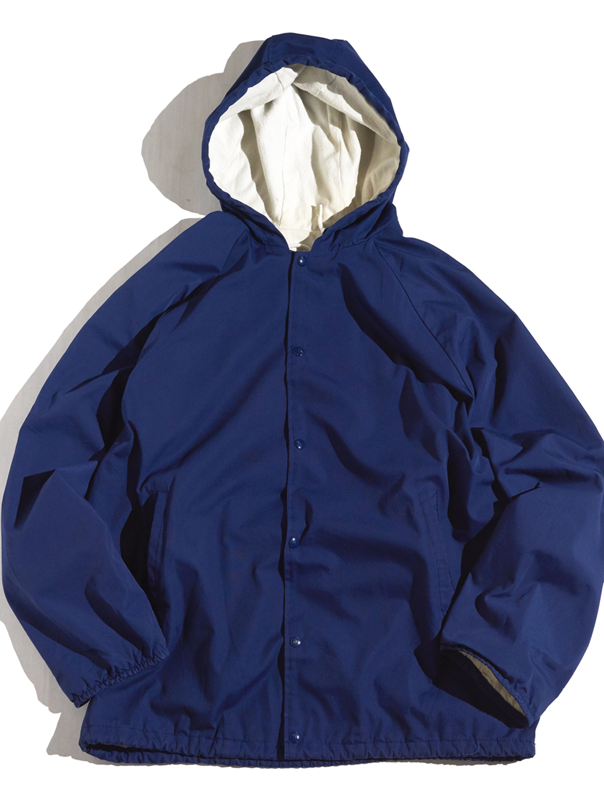 """1980s """"Universiy of GUELPH"""" hooded coach jacket -NAVY-"""