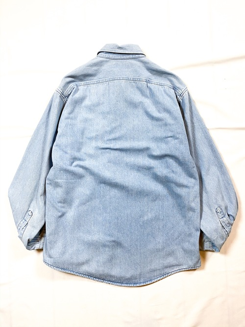 80's L.L.Bean denim/flannel shirt