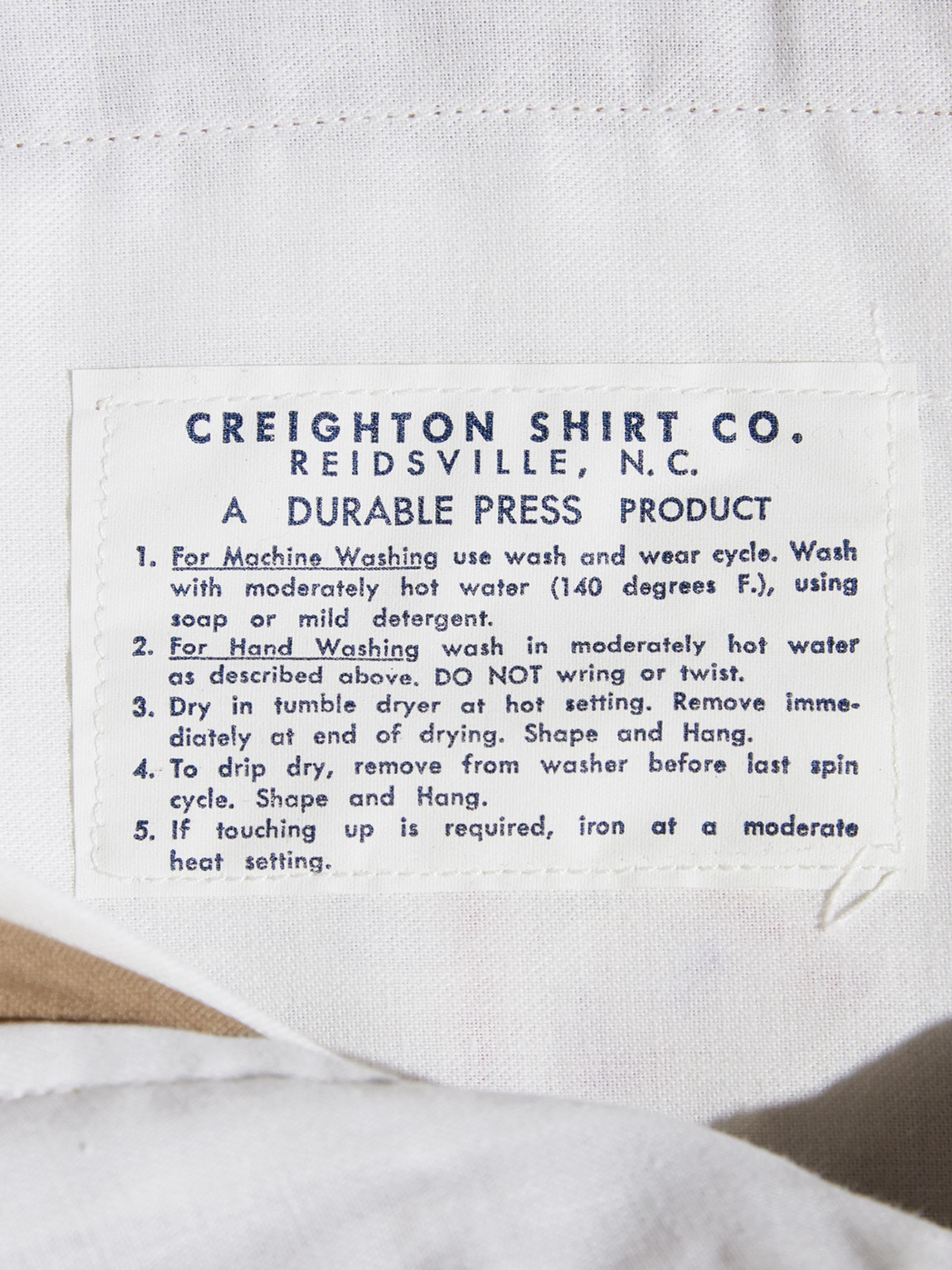 "NOS late 1960s ""CREIGHTON SHIRT"" rayon/polyester slacks -BEIGE-"