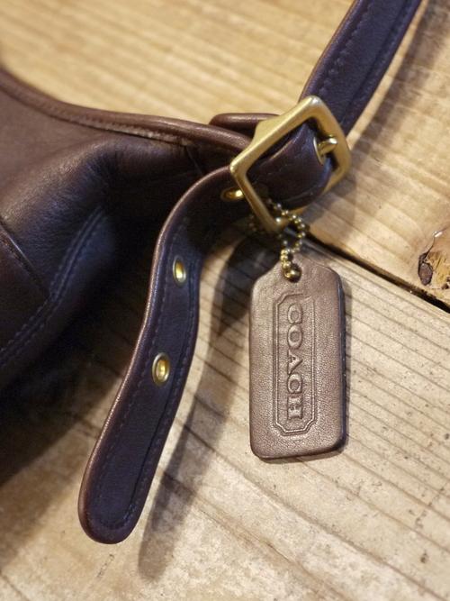 """Old COACH Leather Shoulder Bag """"Brown"""" #2"""