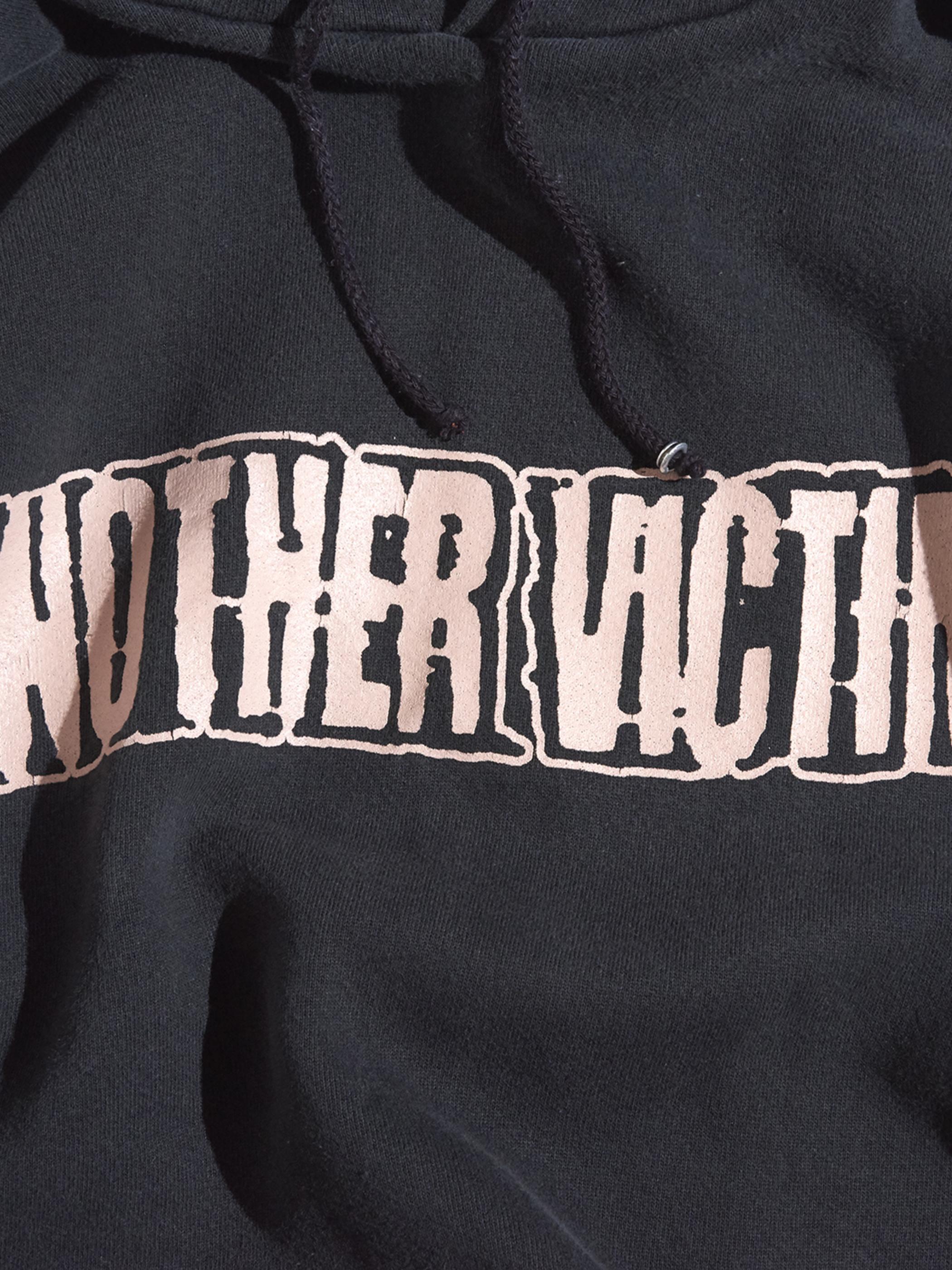 "2000s ""ANOTHER VICTIM"" sweat hoodie -BLACK-"