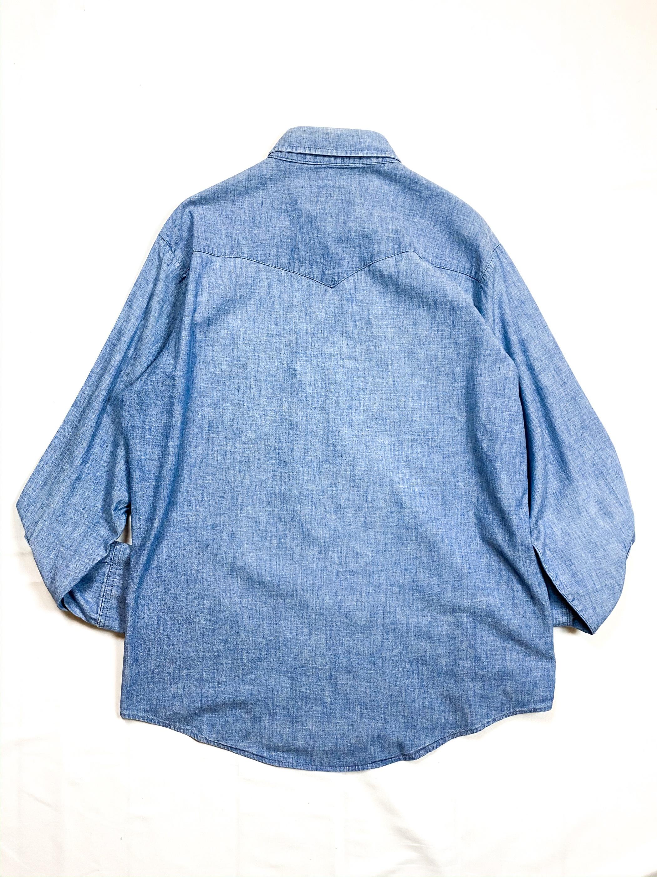 70's Lee chambray western shirt