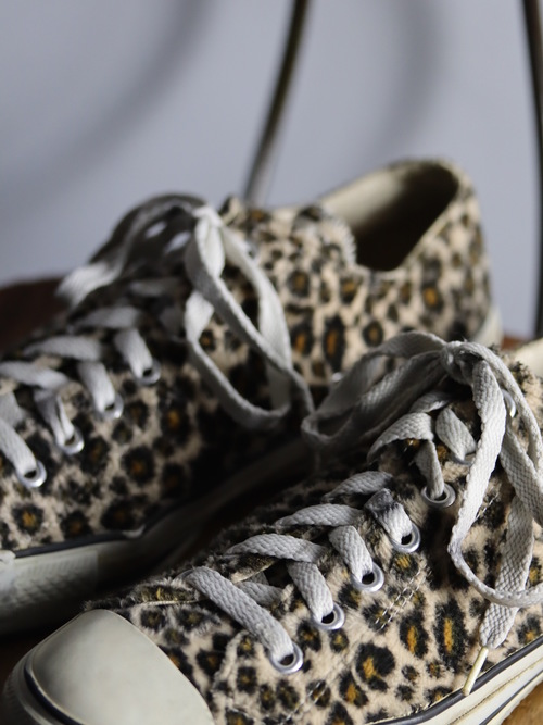 1990's Converse ALL STAR Leopard Fur Low / Under License USA / size 8 1/2