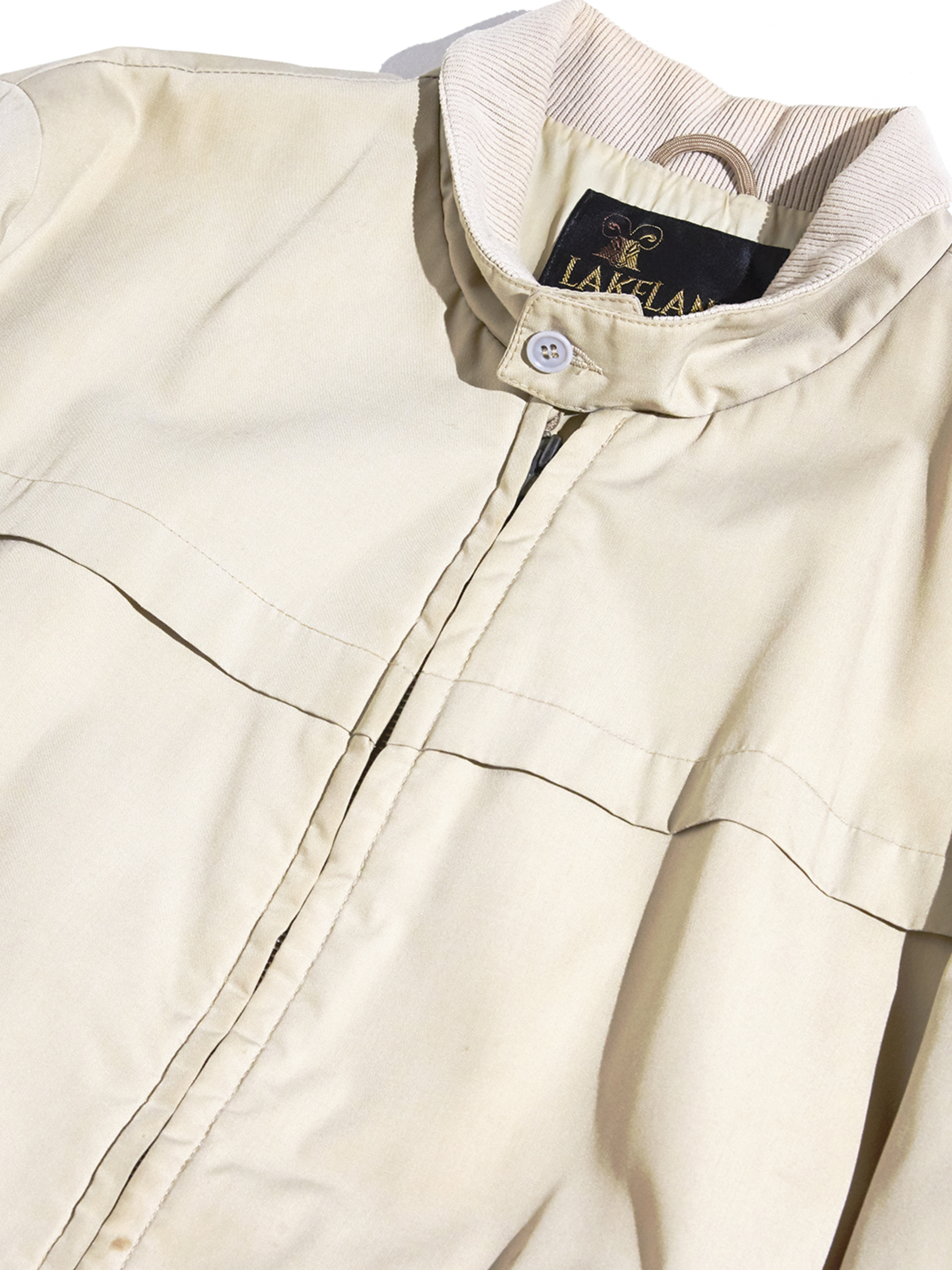 "1970s ""LAKELAND"" zip up jacket -BEIGE-"