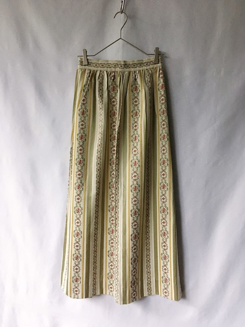 vintag embroidered maxi skirt