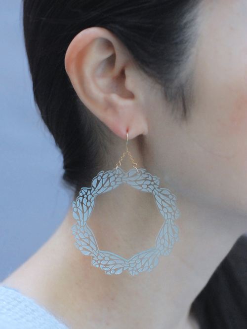 GLASS pierce LARGE HOOP