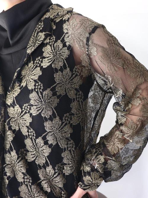 Flower lace shirt jacket