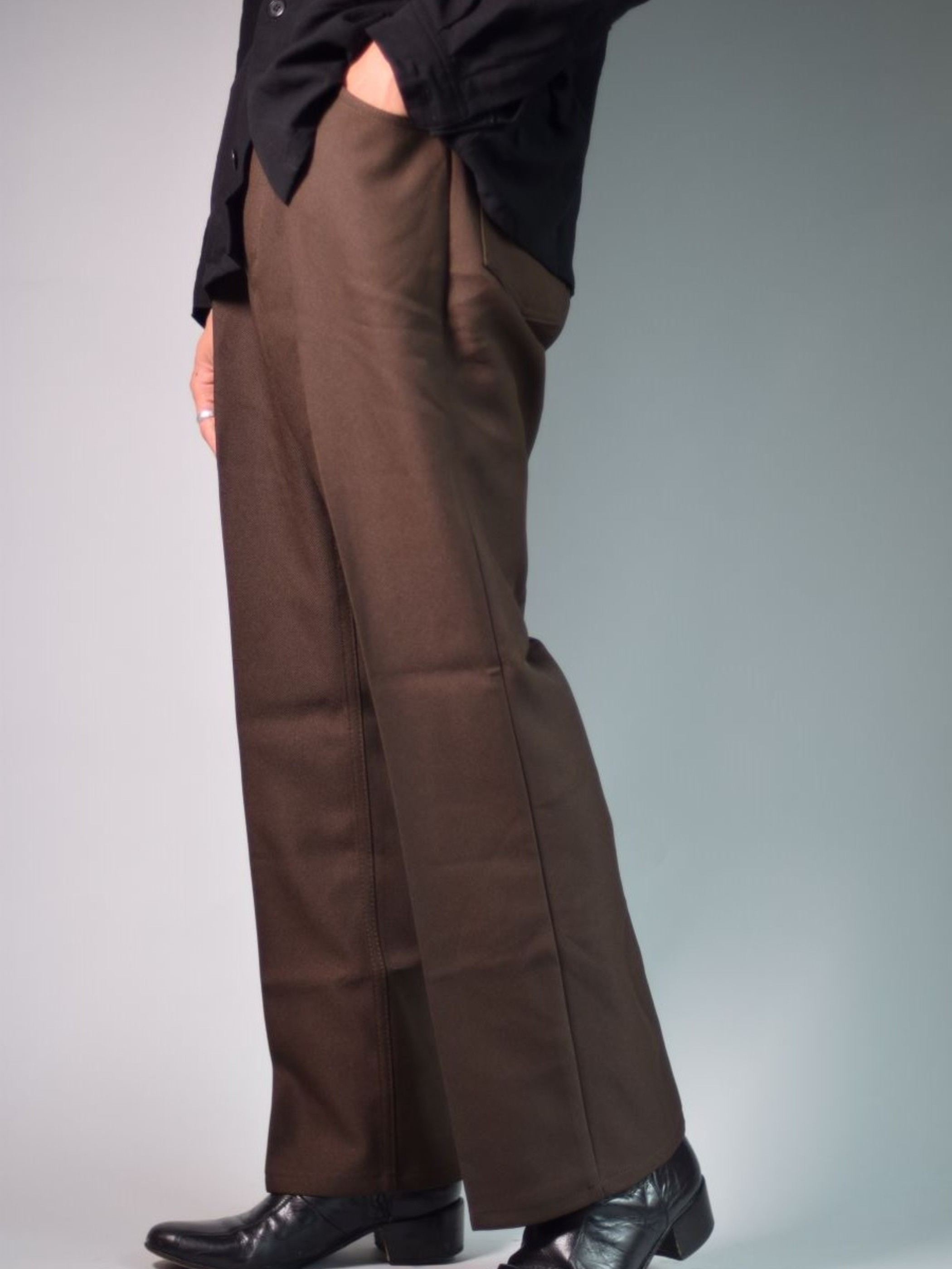 Remake Product WRANGLER REMAKE STA-PREST WRANCHER DRESS JEANS BROWN