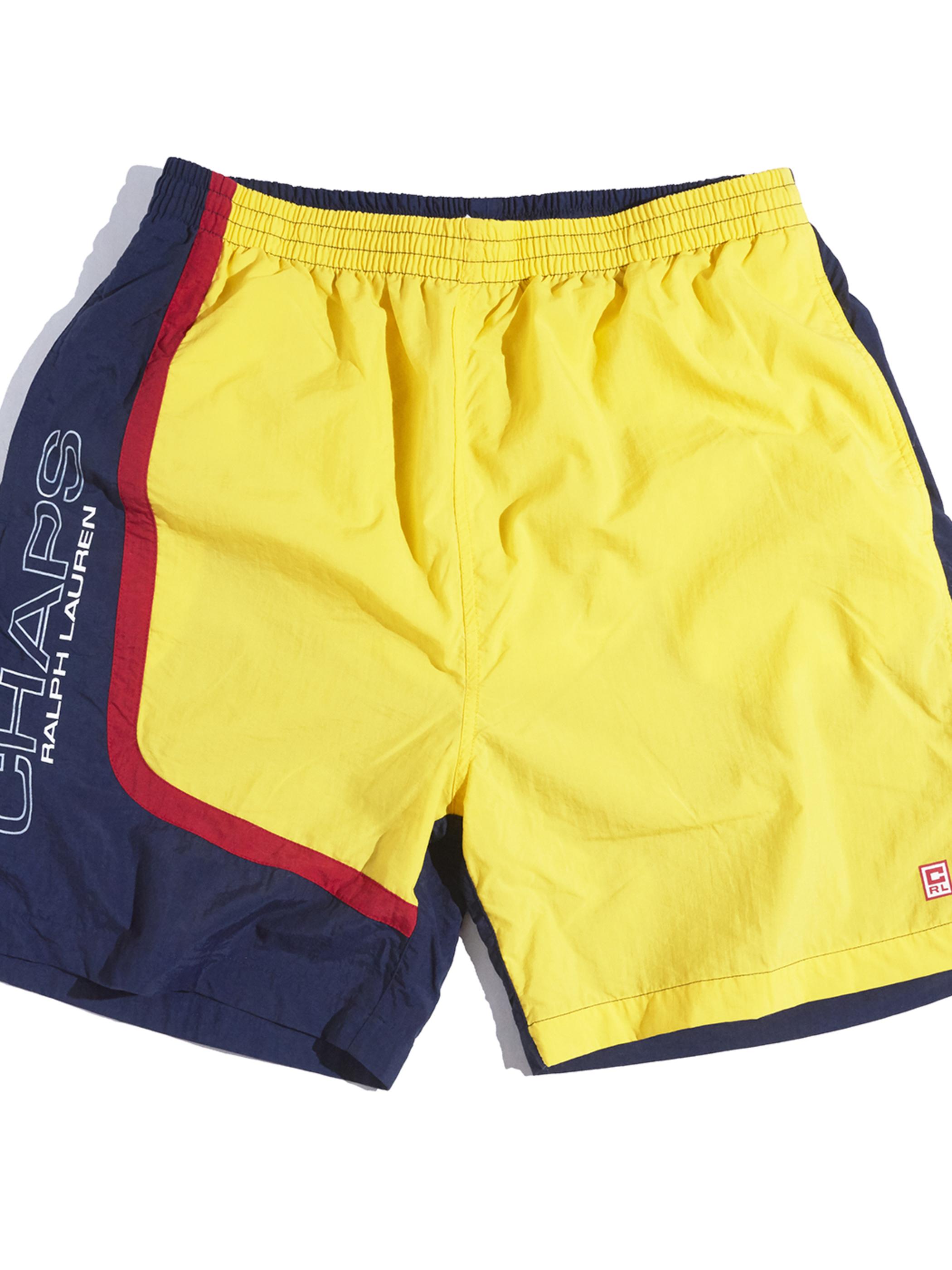 """1990s """"CHAPS"""" swim shorts -YELLOW-"""